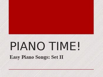 Piano Songs Easy