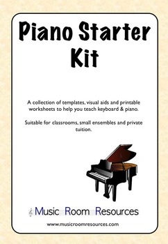Piano Starter Kit - Keyboard Templates, Aids and Worksheet
