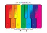 Rainbow Piano Colorful Keyboard Based on RainbowTonic Styl