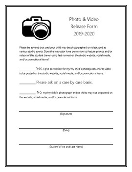 Superior Piano Studio Media Release Form