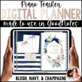 Piano Teacher Digital Planner for GoodNotes on iPad