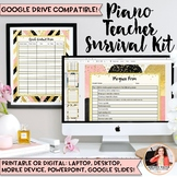 2017-2018 Piano Teacher Survival Kit: 135+ Pages of Chic Glam Templates & Forms!