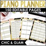 2018-2020 Piano Teacher Survival Kit Planner: Editable & Google Drive Compatible