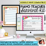 2018-2020 Piano Teacher Survival Kit Planner: Editable & G