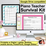 2017-2018 Piano Teacher Survival Kit: 130+ Pages of Templates & Forms!