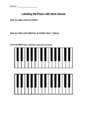 Piano Worksheet (White Keys Only)