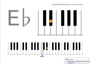 Piano and Keyboard Flash Cards