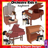 Piano and Keyboard Instruments | Music Kids Playing Instruments Clip Art Set 6