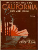 Piano vocal sheet music - I Am Going Back to California