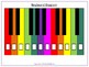 Piano/Keyboard Diagram Collection including Boomwhacker Colours