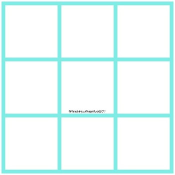 Pic Collage Game Board Templates for Session #5 of Pic Collage PD