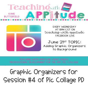 Pic Collage Graphic Organizers for Session #4