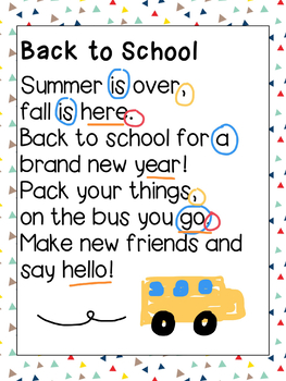 PicCollage Digital Poetry Back to School
