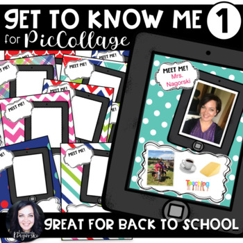 Pic Collage Digital Get To Know Me- A Digital All About Me Activity