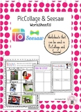 PicCollage and Seesaw Worksheets
