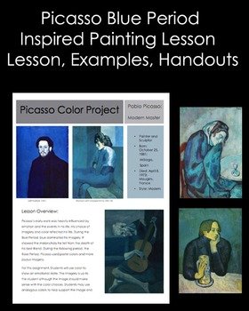 High School & Middle School Art Lesson inspired by Picasso