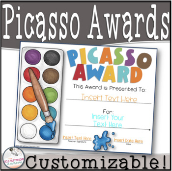Picasso Award- Customizable