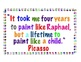 """Picasso Artist Quotes - 2 Colorful Poster Quotes - """"Every Child is an Artist"""""""