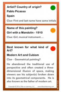 Picasso - Artists of the world enrichment kit - Flashcards pdf download