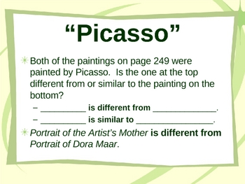 """""""Picasso"""" - Compare and Contrast Reading Lesson"""
