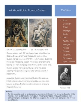 Artists-Picasso-Cubist Period