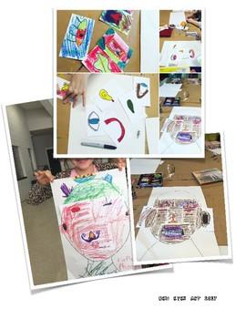 Picasso Cubist Portrait Class Collaborative Art Activity