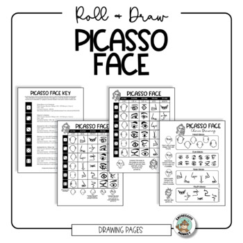 picasso portrait drawing timeline and coloring tpt