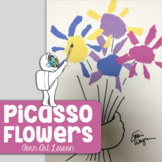 Intro to Picasso - Spring Art Lesson - Mother's Day Art Lesson - Flowers