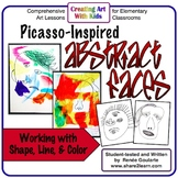 Art Lesson Picasso-Inspired Abstract Face Drawing
