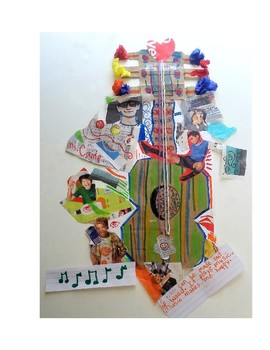 Picasso Mixed Media Collage Guitars
