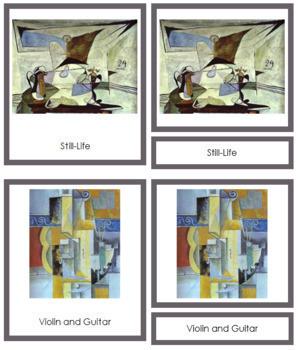 Picasso (Pablo) 3-Part Art Cards - Color Borders