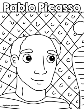 Picasso Coloring Page Worksheets Teaching Resources Tpt
