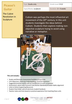 Picasso's Guitar, The Cubist Revolution in Sculpture - Studio only unit