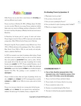 Picasso, the painter of peace. Inspiring People Series.