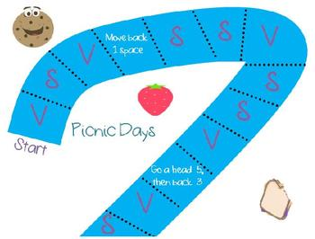Picinic Days Spelling Vocabulary Game