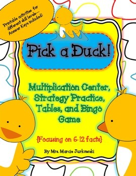 Pick A Duck Multiplication Center, Basic Fact Practice, Pr