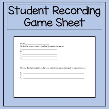 A Differentiated Antonym Game