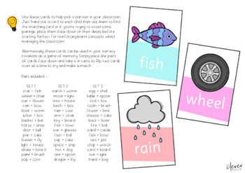 Pick A Partner Cards - Compound Word Pack