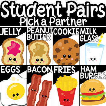 Student Grouping Pick A Partner Cards Random Generator Included