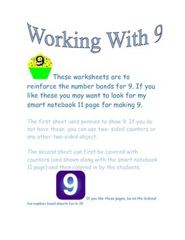 number bonds for 9