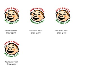 Pick A Pizza Reinforcing Game- Corresponding to the book Pete's a Pizza