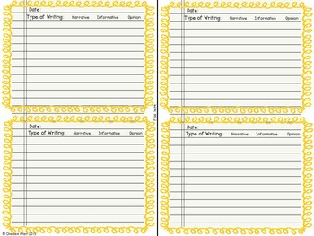 Pick A Prompt (September): Common Core Types of Writing for 3rd Grade