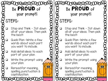 """Pick-A-Prompt"" Writing Activity"