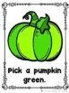 Pick A Pumpkin (A Sight Word Emergent Reader)
