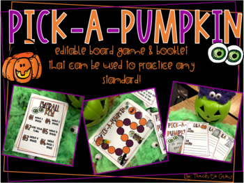pick a pumpkin board game by teach to grow with miss d tpt
