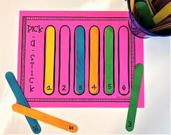 Pick-A-Stick FREEBIE for ANY Speech/Language Goal!