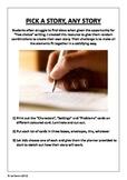 Pick A Story, Any Story (Story Starter Cards + Planner)
