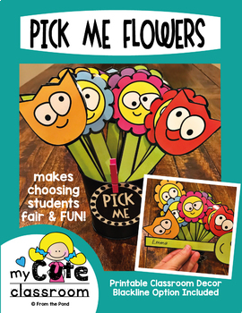 Pick Me Flower Name Stick {Name Selector / Choosing System}