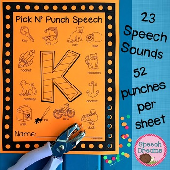 Pick N' Punch Speech Targets {low prep black & white print} punch cards