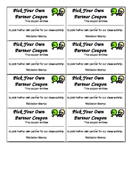 Pick Own Partner Praise Coupon